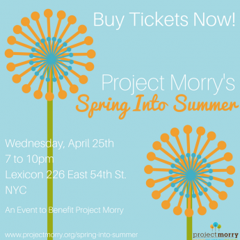 Join Us!  Project Morry's Spring Into Summer 2018!
